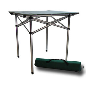 aluminum roll table folding camping outdoor indoor picnic heavy duty