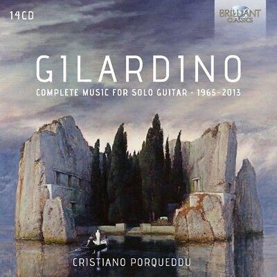 CRISTIANO PORQUEDDU - COMPLETE MUSIC FOR SOLO GUITAR 1965-2013 14 CD NEW