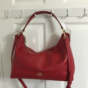 Brand new with tags authentic COACH 2piece set red leather!!