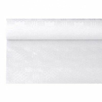 Papiertischdecke weiss, günstige Partytischdecke 6 Meter Rolle, 120 cm breit