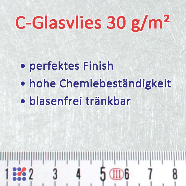 GLASMATTE, GLASVLIES, GLASFASERMATTE F. POLYESTERHARZ  EPOXIDHARZ POLYESTERVLIES Glasvlies 30g/m²