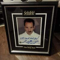 Soup Nazi Seinfeld Autograph Picture and Frame