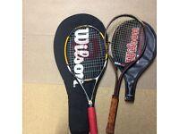 2 X Wilson tennis rackets