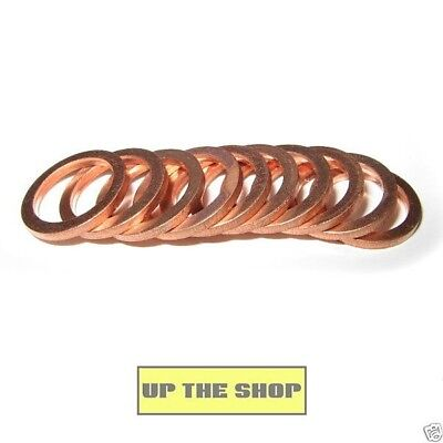 10 copper crush washers 10mm and 3/8