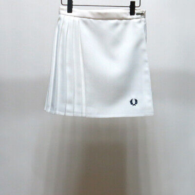 Vtg FRED PERRY Wrap Pleated Tennis Miniskirt women