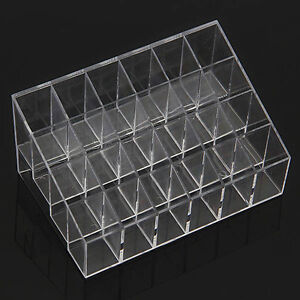 1Pc 24 Lipstick Stand Cosmetic Organizer Makeup Trapezoid Display Case