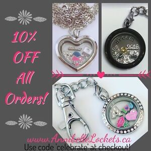 SAVE 10%!Floating charm,glass lockets Annibelle Lockets By You