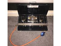 Yellowstone 3 Burner Gas Cooker With Grill USED ONCE immaculate