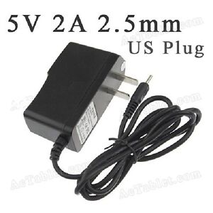 5V - 2A Power Supply Charger for Hipstreet Tablet PC - 2.5mm Mal