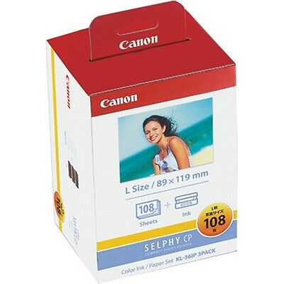 KL-36IP 3PACK Official CANON color ink / paper set L size SELPHY CP Series