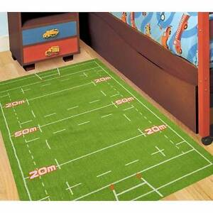Rugby Football Field KIDS FLOOR RUG 150 x 100 cm Smeaton Grange Camden Area Preview