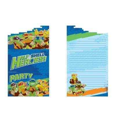 8 Teenage Mutant Ninja Turtles Half Shell Geburtstag Party Einladungen &