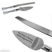 Silver Wedding Cake Knife and Server