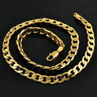 14K thick gold filled Cuban Link Necklace Chain Jewelry