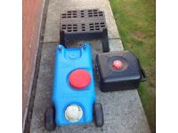 FIAMMA wASTE WATER TANKS AND A STEP.