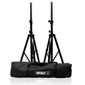 Gorilla-Stands-High-Quality-PA-Speaker-Tripod-Stands-kit-with-Bag-Stand-DJ-Disco
