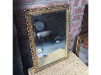 ANTIQUE GOLD MIRROR BEAUTIFUL FREE DELIVERY GOOD CONDITION