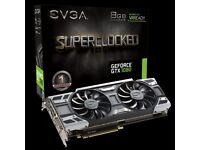 EVGA GeForce GTX 1080 SC Graphics Card, GPU