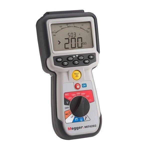 Megger MIT420/2 CAT IV Insulation Tester. Tests up to 1000 V and 200 G? Range