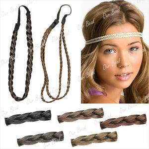 Black-Brown-Blond-Women-hair-Braid-Headband-head-band-Hair-pieces-for-women