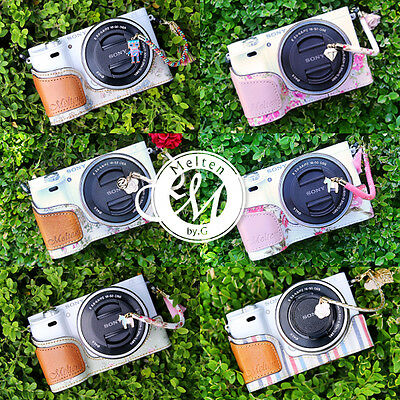 [Melten] Fabric Camera Half Case For Sony Alpha A6000