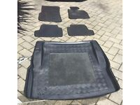 Tailored rubber floor mat set and boot liner for BMW Coupe 2015