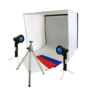 photography julius photo studio table top photo box light folding lighting kit ebay. Black Bedroom Furniture Sets. Home Design Ideas