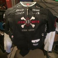 Icon victory leather riding jacket