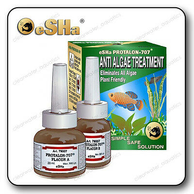 eSHa Protalon 707 ANTI ALGAE Aquarium TREATMENT Fish Tank Aquatic PLANT FRIENDLY