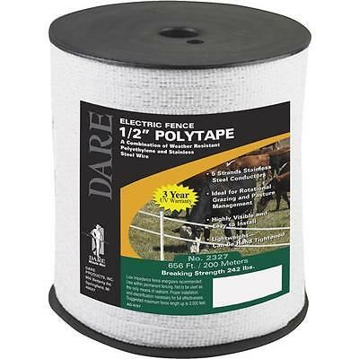 6 Pk Dare 12 Wide 656 Five Steel Strand Electric Fence Poly Tape 2327