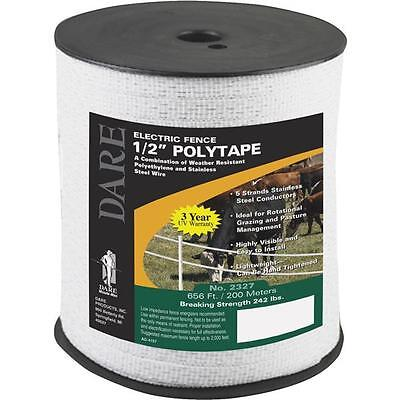 3 Pk Dare 12 Wide 656 Five Steel Strand Electric Fence Poly Tape 2327