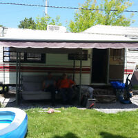 Prowler, 5th Wheel, 24.5 foot, 1984 trailer with awning