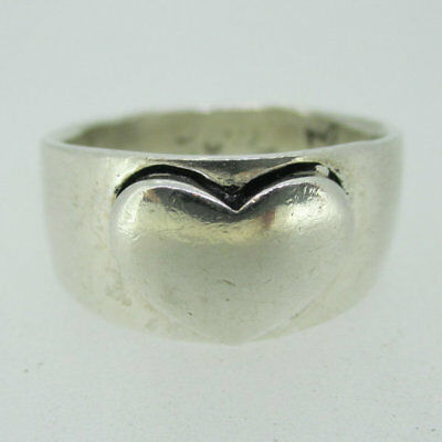 - Sterling Silver Inspirational Heart Message Band Ring Size 9