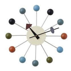 Ball Clock George Nelson Reproduct Designe Furniture ottostyle.jp Multicolor