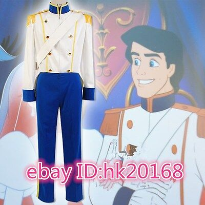 Disney The Little Mermaid Prince Eric Cosplay Costume Attire Outfit Tuxedo - Prince Eric Little Mermaid Costume