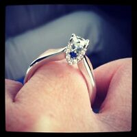 Vera wang LOVE COLLECTION 1/2 ct solitaire engagement ring