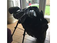 Cobra cammo golf bag and mizuno mp-30 irons 4-9 plus pitching wedge