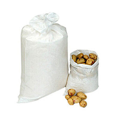 200 Strong Woven Potato Rubble Gravel Sand Bags Sacks