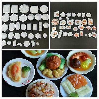 33Pcs/Set Dollhouse 1:12 Kitchen Dishes Plate Rement Serving Platter Craft Model