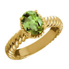 Peridot Solitaire Yellow Gold 14k Fine Rings