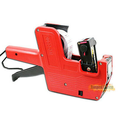 Mx-5500 8 Digits Red Price Gun Tag Machine 1 Line Labeler 1 Roll Labels Ink