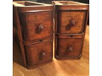 Antique Singer Sewing Machine wooden boxes