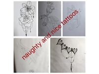 Naughty and nice tattoo £30 offer this month