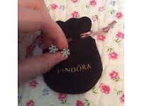 Pandora snowflake earrings - new unworn