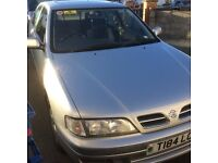 Nissan Primera T-Reg.Silver car.Good tyres,radio etc. Been excellent runner,but clutch on way out