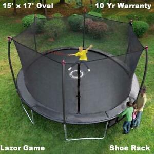 New 17' Trampoline & Safety Net Enclosure Sale,  Shooting  Game