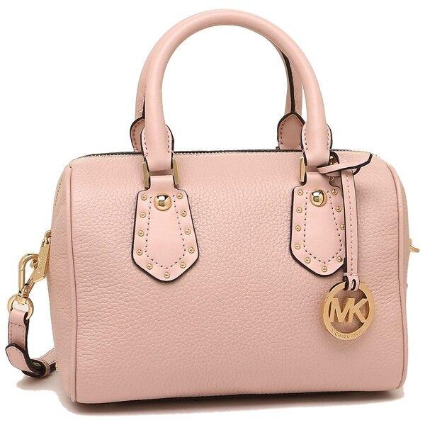 Michael Kors Aria Medium Blossom Leather Studded Crossbody Satchel Bag