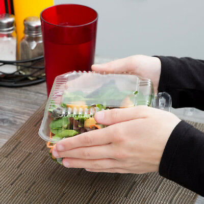 125-pack 6 X 6 X 3 Clear Hinged Lid Plastic Takeout To Go Box Container