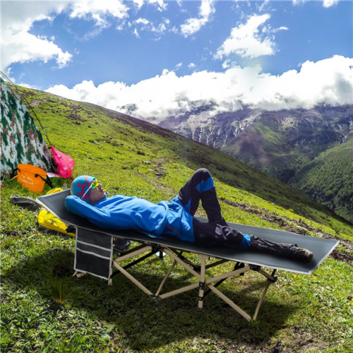 Portable Camping Bed Outdoor Military Cot Hiking Travel Slee
