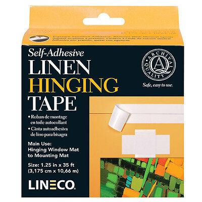 "Self Adhesive Linen Hinging Tape 1.25""X35'  Lineco # L533-1015  (bin 2203)"